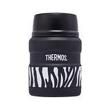 THERMOS膳魔師 不鏽鋼真空保溫燜燒食物罐0.47L 個性斑馬(SK3000-ZBK)