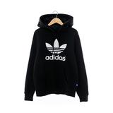 Adidas(女)連帽T(長)-黑-AJ8407