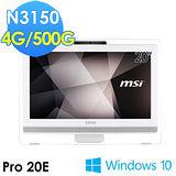 msi微星 Pro 20E 4BW-008TW 20吋 N3150 WIN10 液晶電腦