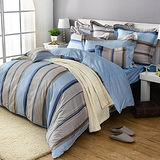 義大利La Belle《悠閒時刻》雙人四件式防蹣抗菌舖棉兩用被床包組