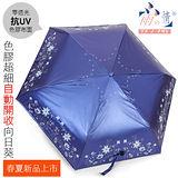 色膠不透光自動開收傘 - 向日葵【深紫色】 抗UV/遮陽傘 - 台灣雨之情