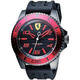 Scuderia Ferrari 法拉利 XX KERS 競速手錶-黑x紅圈/50mm 0830306