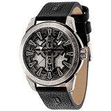 POLICE  崇拜暗黑聖靈個性腕錶-黑X銀