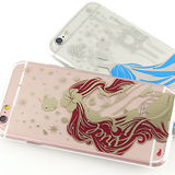 Disney iPhone 6 Plus/6s Plus 時尚質感電鍍系列彩繪保護套-公主