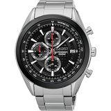 SEIKO 競速巔峰時尚計時腕錶-黑/45mm 8T67-00A0D(SSB201P1)
