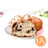 (任選)【台灣鑫鮮】手作烘焙湯種堅果麵包-水滴巧克力(380克/條)