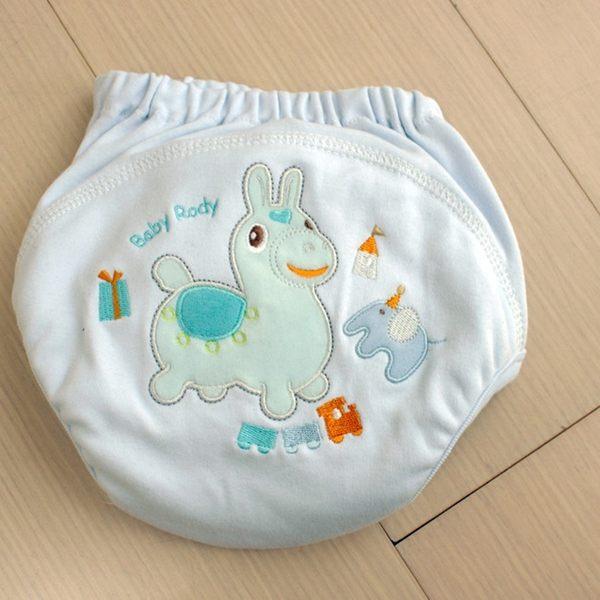 GMP BABY RODY 寶寶超吸排純棉紗學習褲-藍