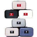 【AWANA】多功能輕巧ABS/PC硬殼過夜包盥洗包(六色可選)
