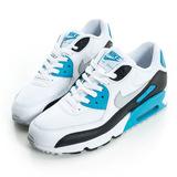 NIKE (女大童)AIR MAX 90 MESH GS 休閒鞋 白藍 833418101