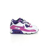 NIKE 女(童)AIR MAX 90 MESH GS 經典復古鞋 白紫833340105