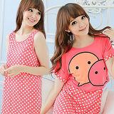 Wonderland ST724 甜蜜傳情牛奶絲罩衫洋裝2件組(珊瑚紅)