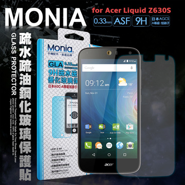 MONIA for 宏碁 Acer Liquid Z630S 5.5吋  日本頂級疏水疏油9H鋼化玻璃膜 玻璃保護貼