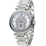 Michael Kors 古典魅力晶鑽計時腕錶 MK6281