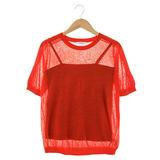 Jessica RED 二件式透膚上衣-橘