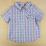 【愛的世界】MYBABY 小狗郊遊去系列純棉格子襯衫/6~12歲-台灣製-