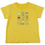 【愛的世界】MYBABY 小狗郊遊去系列純棉圓領短袖T恤-黃色/2~4歲-台灣製-