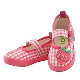 【愛的世界】IDCJ 草莓園帆布鞋/娃娃鞋-粉色/15-16CM-中國製-