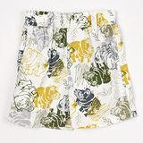 【愛的世界】LOVEWORLD 河馬系列河馬圖案鬆緊帶純棉短褲/1~2歲-台灣製-