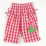 【愛的世界】LOVEWORLD 花盆系列格紋鬆緊帶純棉七分褲/4~6歲-台灣製-