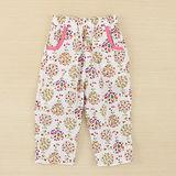 【愛的世界】MYBABY 東方假期系列鬆緊帶純棉印花長褲/2~3歲-台灣製-