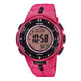 CASIO PROTREK 太陽能電波錶亮色系時尚腕錶- 47mm/PRW-3000-4B