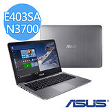 【福利品】ASUS 華碩 E403SA N3700 4GB DDR3 14吋FHD 128G硬碟 W10 輕薄商務筆電 (金屬灰)