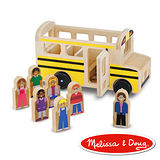美國瑪莉莎 Melissa & Doug 交通工具 - 小人國,木質經典校車