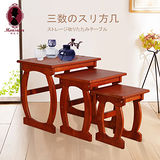 心之芳庭木質三套桌