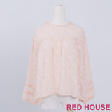 RED HOUSE-蕾赫斯-滿版雲朵網狀上衣(粉色)