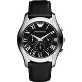 ARMANI 羅馬時尚三眼計時腕錶-黑/44mm AR1700