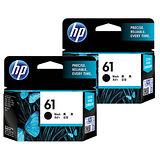 【HP】CH561WA/NO.61 原廠黑色墨水匣 (雙入組)