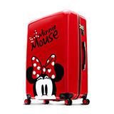 【Disney】米奇奇幻旅程28吋拉鍊行李箱-俏皮紅