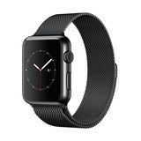 Apple WATCH 42mm/42公釐 S 太空黑不鏽鋼錶殼 太空黑米蘭式錶環【含螢幕保護貼+觸控筆+專用錶套】(MMG22TA/A)