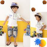 ☆BOLLA2☆ 韓流 航海風 海盜寶藏雙面設計 POLO棉衫 白 BT02