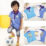 ☆BOLLA2☆ 韓流 航海風 海盜寶藏雙面設計 POLO棉衫 藍紫 BT02