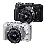 Canon EOS M3 15-45mm KIT 單鏡組(公司貨)-送64G記憶卡+專用電池+專用座充+保護鏡+HDMI+遙控器+吹球清潔拭淨筆組+防潮箱