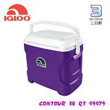 【限量款】IgLoo CONTOUR系列30QT冰桶49479 紫色 /城市綠洲專賣 (保鮮保冷.美國製造.露營.釣魚)