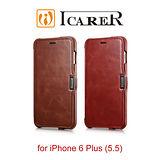 ICARER 復古系列 iPhone6 Plus/6S Plus 磁扣側掀 手工真皮皮套