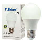 T SHINE LED燈泡-白光( 8W )