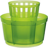 《EXCELSA》七格餐具瀝水筒(綠)