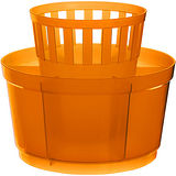 《EXCELSA》七格餐具瀝水筒(橘)