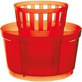 《EXCELSA》七格餐具瀝水筒(紅)