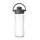 美國唯樂Lifefactory 彩色玻璃水瓶-吸嘴350ml 透明LF284202