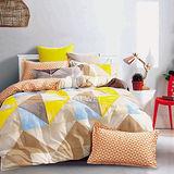 【主流戀曲】雙人純棉四件式涼被床包組