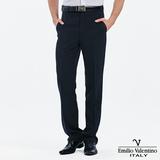 Emilio Valentino 范倫提諾吸濕排汗條紋平面西褲-藍