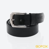 BOFOX 個性鉚釘休閒皮帶(A款)-黑