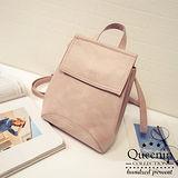 DF Queenin日韓 - 韓版仿皮款可後背側背2用包-共3色
