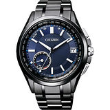 CITIZEN Eco-Drive 光動能計時腕錶-米色x咖啡/45mm CA4215-04W