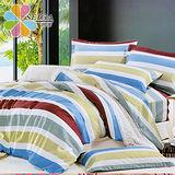 飾家 《浪漫之旅》 雙人絲柔棉四件式涼被床包組台灣製造
