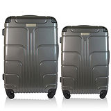 【Luggagezone】旅遊家24+28吋PC兩件組鏡面防水拉鍊海關鎖行李箱/旅行箱
